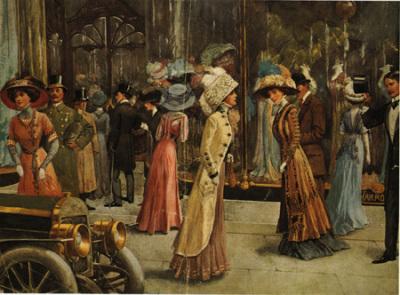 Her ser man hvordan klesmoten var rundt 1900.